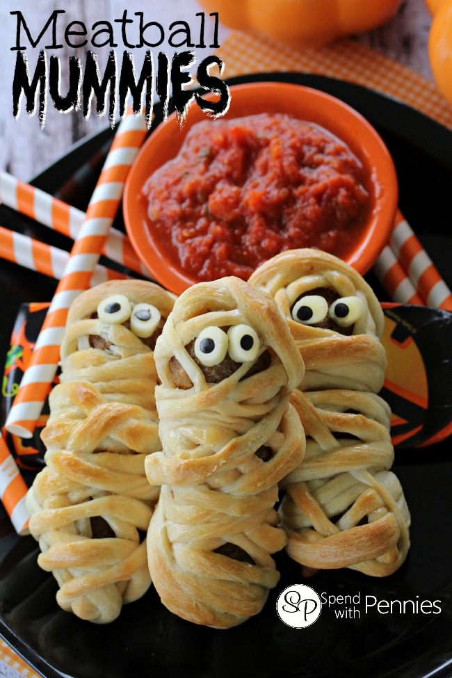 Meatball Mummies, from Spend with Pennies