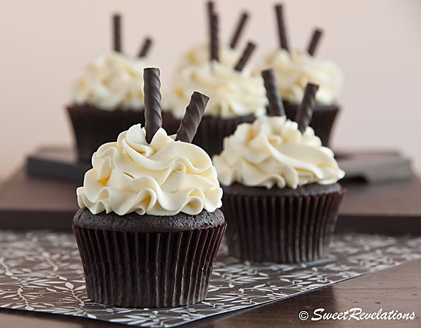 Dark Chocolate Peppermint Cupcakes by Sweet Revelations