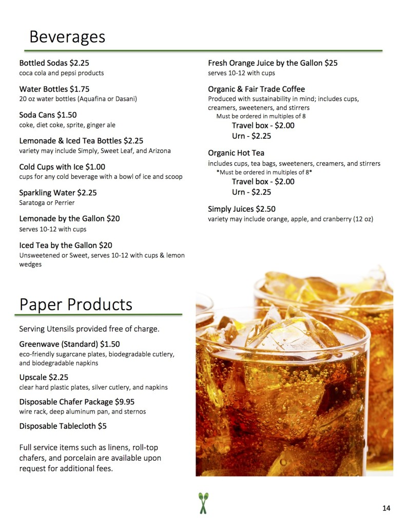 New Menu 2016 - Beverages