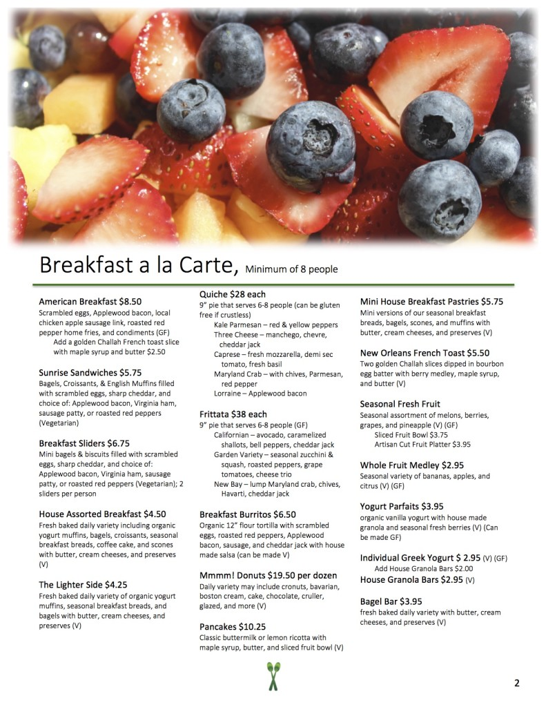 New Menu 2016 - Breakfast