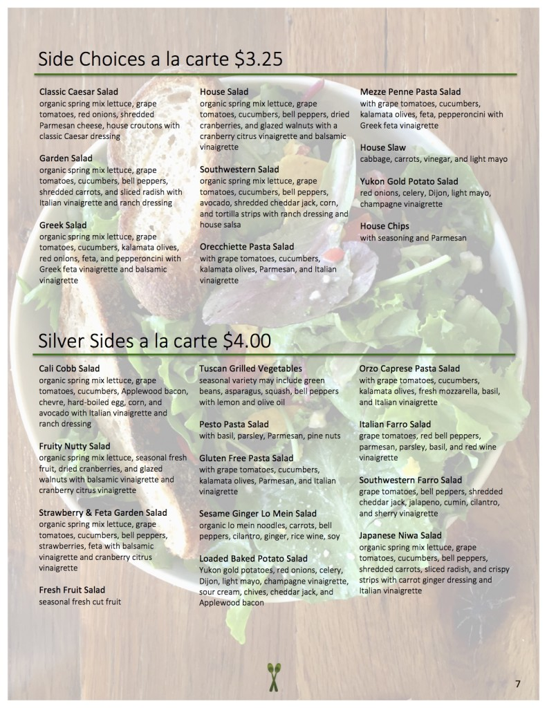 New Menu 2016 - Sides