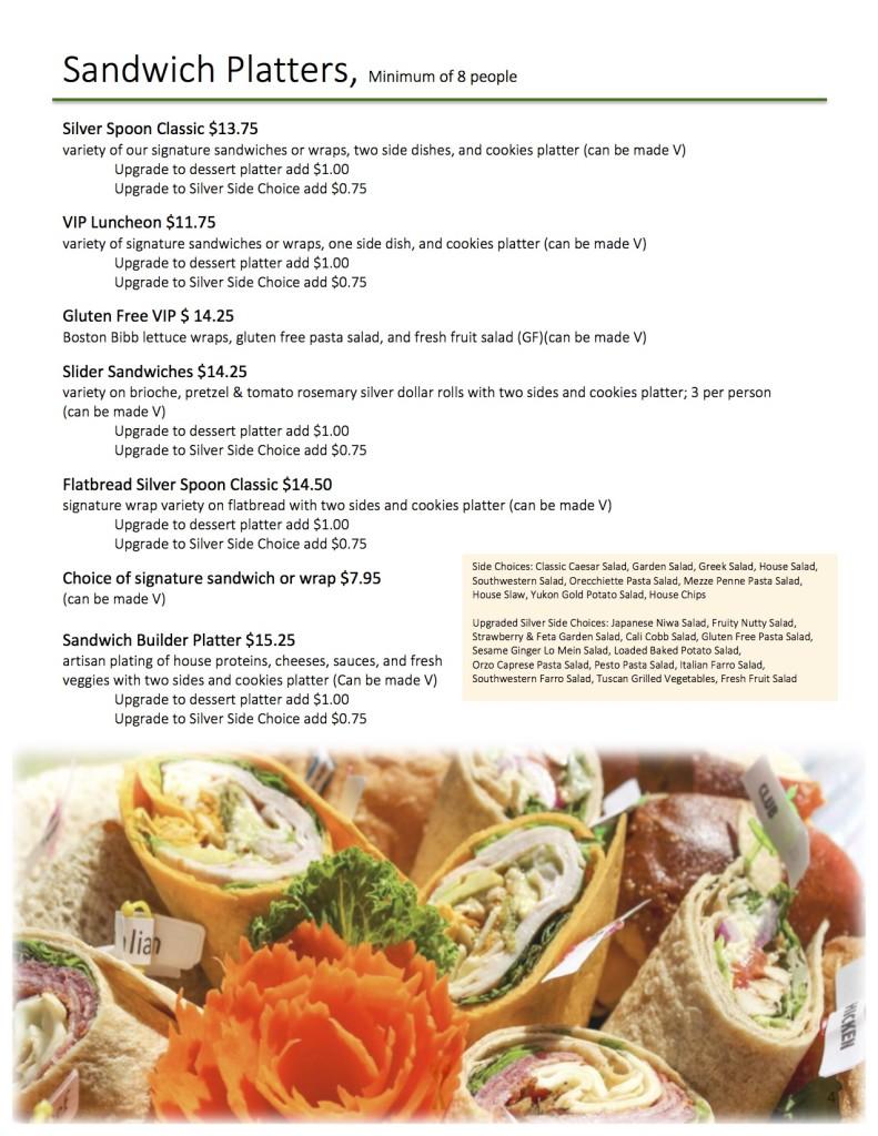 Sandwich Platters page