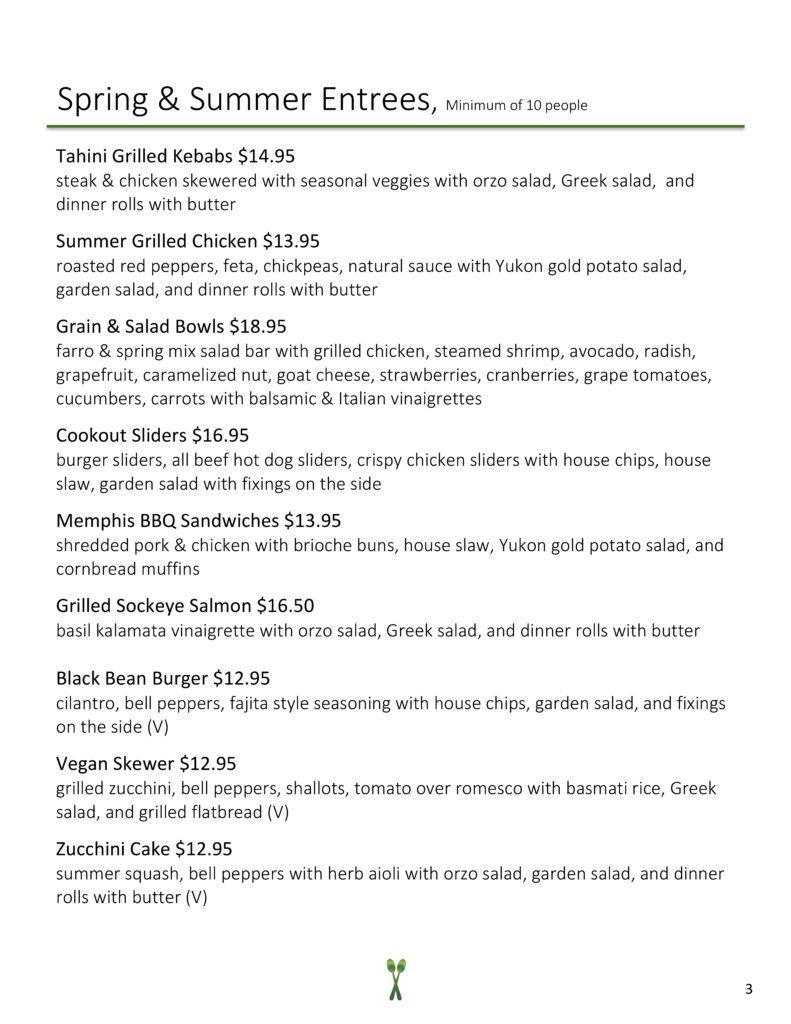 page 3 summer menu