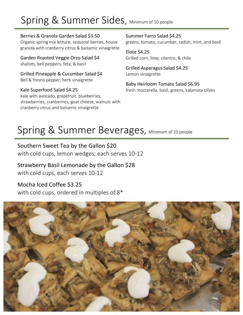 page 4 summer menu